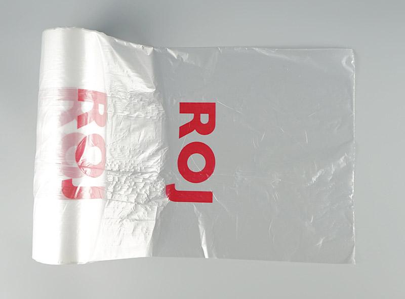 Vegetable Roll Bag/ Shopping Grocery Custom Flat Food Grade plastic bag roll for vegetables, fruit