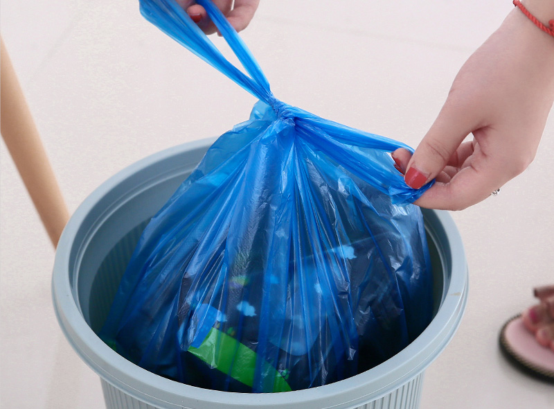 Breakpoint Style Disposable T-shirt Plastic Garbage Bag