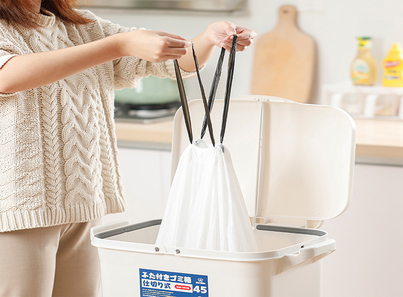 Drawstring Garbage Bag On Roll