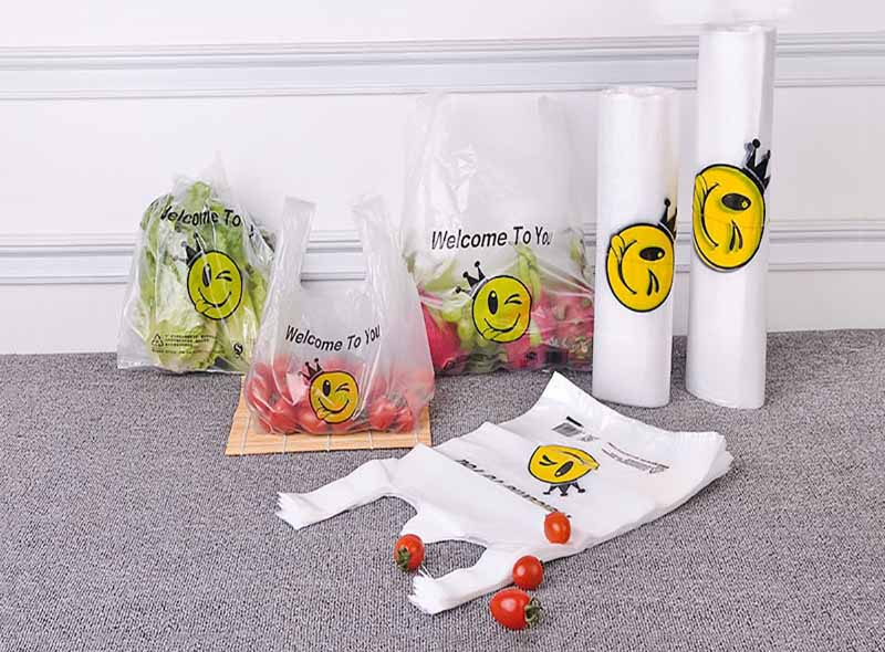 Smiley Face Plastic Shopping Bag