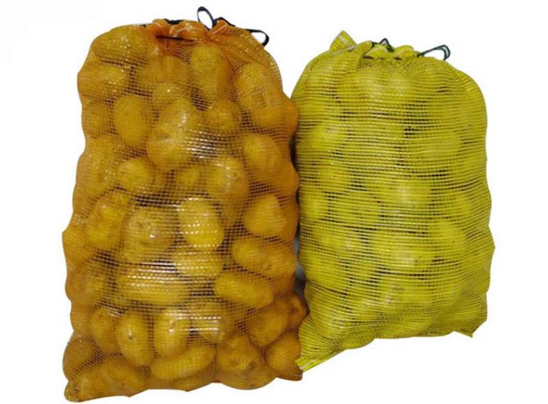 Drawstring Mesh Bag Packaging Potato