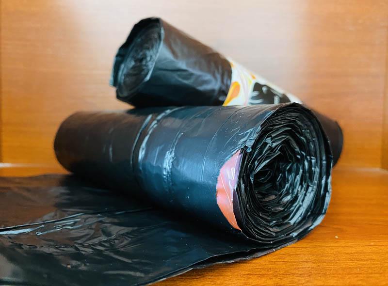 HDPE Black Drawstring Garbage Bag