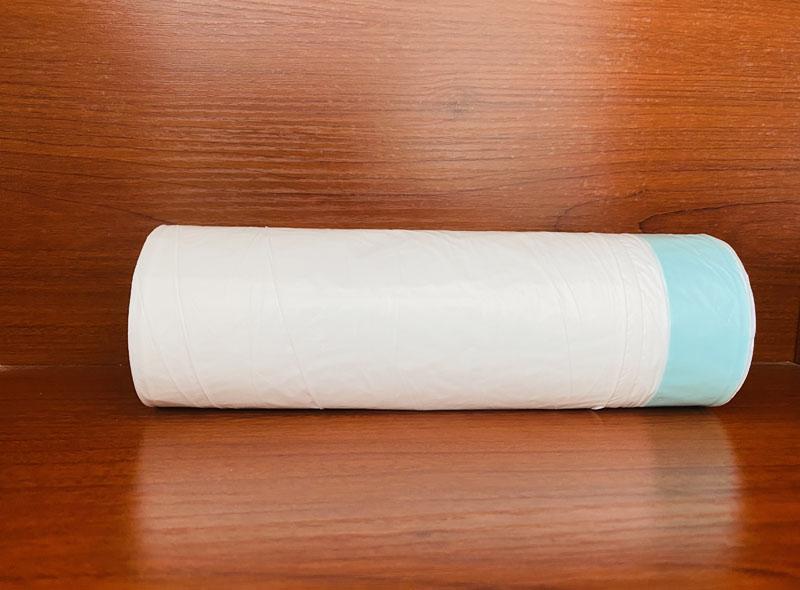 White Drawstring Garbage Can Liner