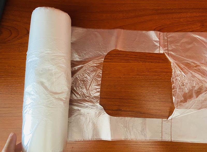 Transparent T-shirt Plastic Food Storage Bag On Roll