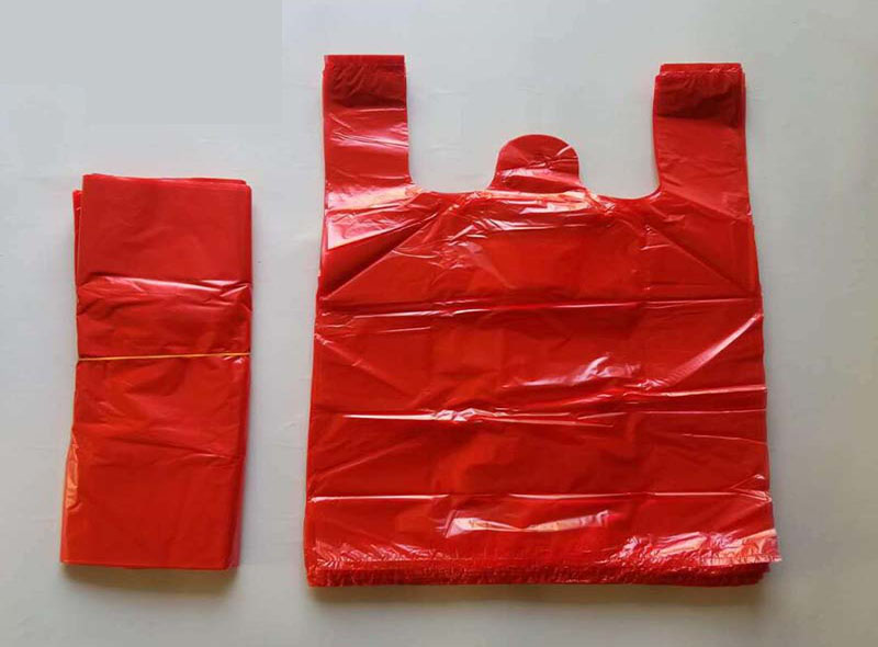 Red T-shirt Plastic Bags