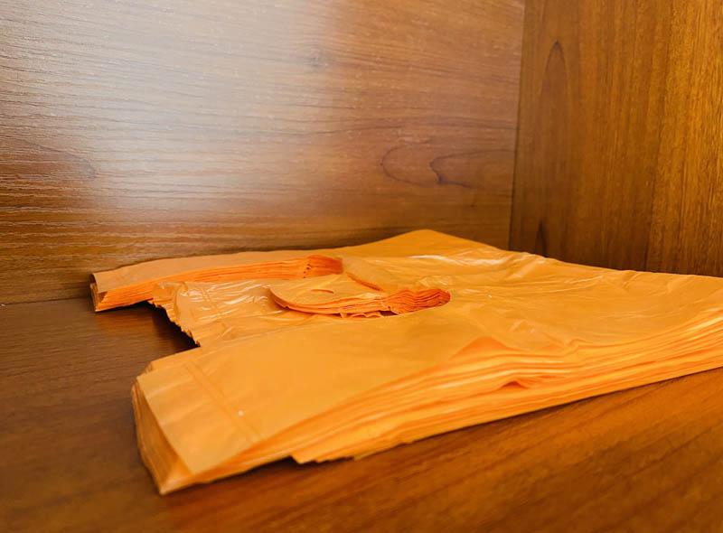 Orange Plastic T-shirt Bag