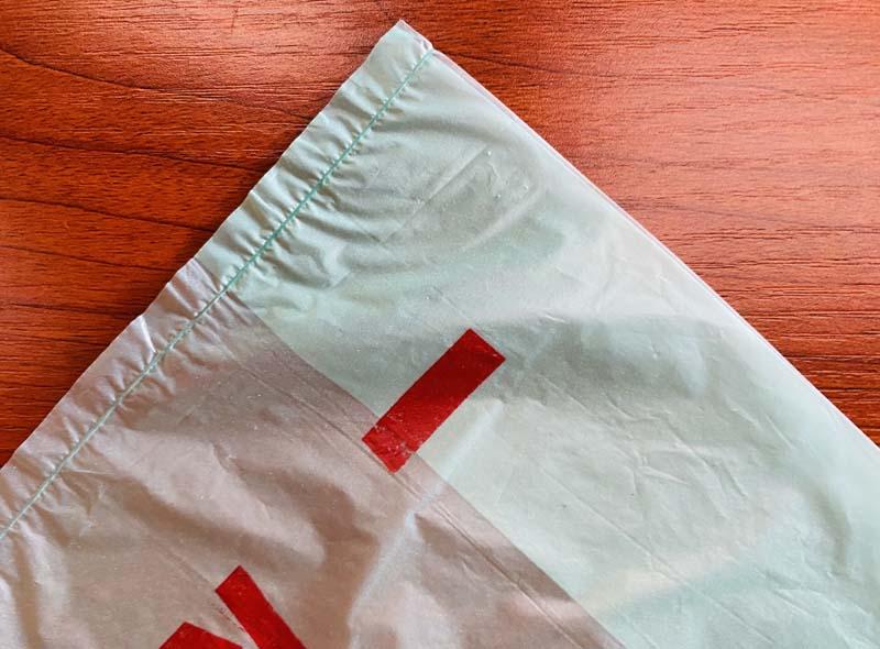 Light Green Plastic T-shirt Shopping Bags