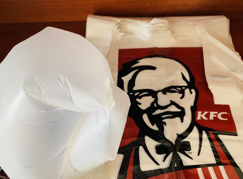 KFC Plastic T-shirt Bag