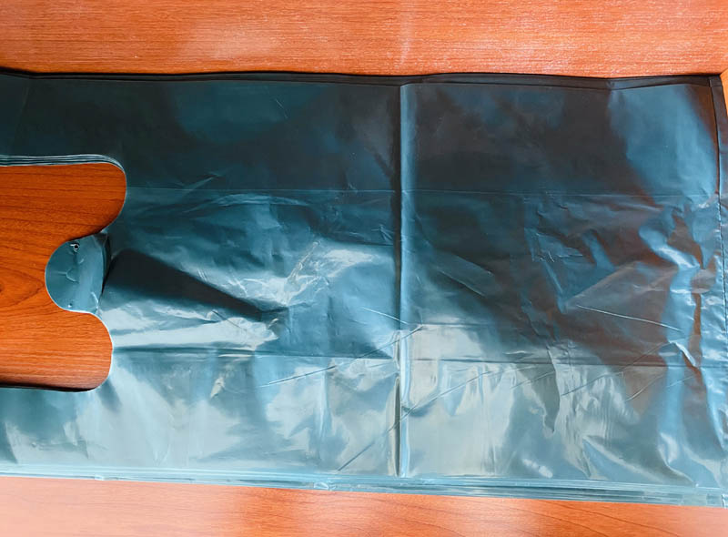 LDPE Thick Dark Green Plastic T-shirt Bag