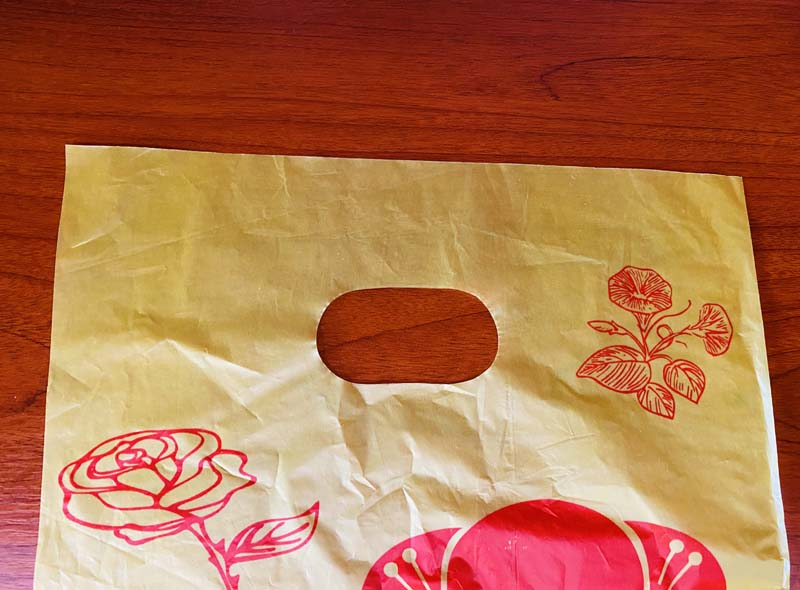 HDPE Yellow Plastic Die-cut Bag