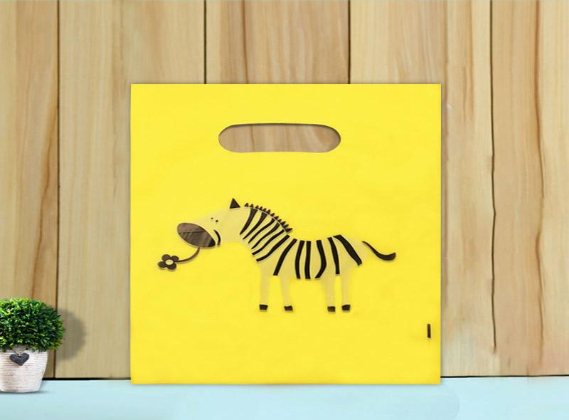 Custom Printed Colorful Plastic Die-cut Bag