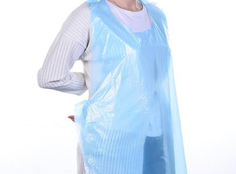 LDPE Blue Plastic Apron
