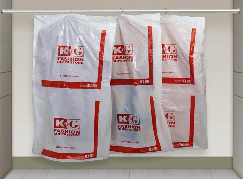 Disposable White Plastic Clothes Dust Bag