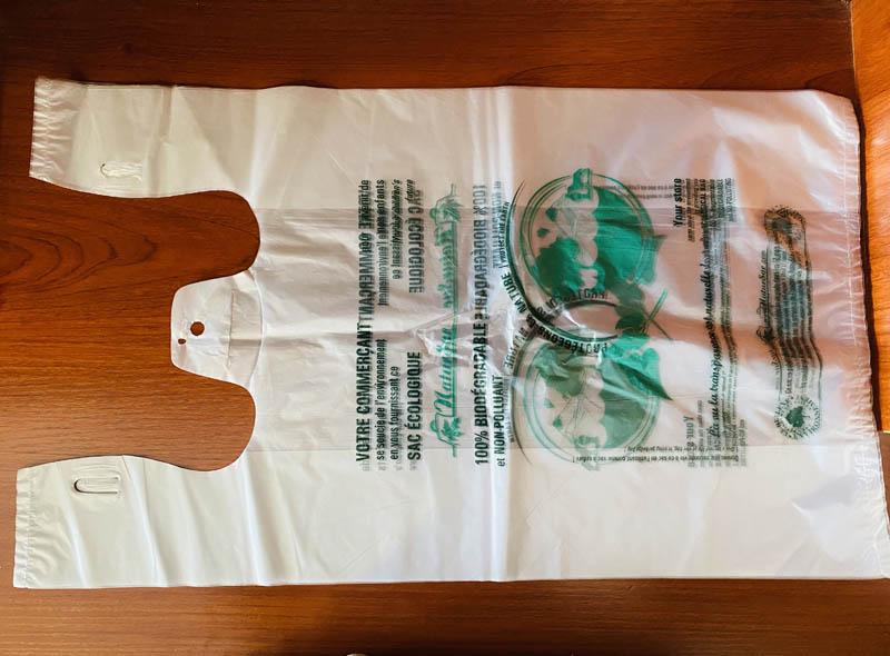 White Biodegradable Eco-friendly Bag