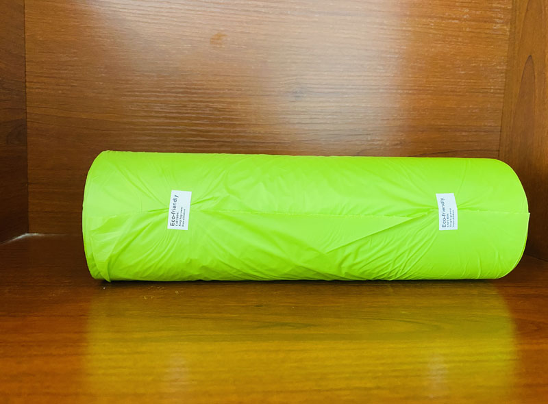 Green Compostable Produce Bag On Roll