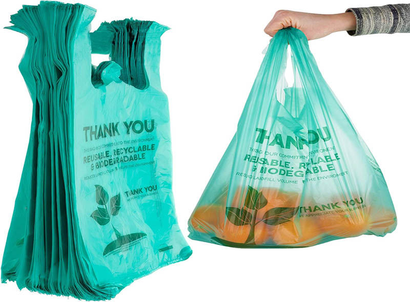 Biodegradable Eco-friendly Thank You T-shirt Bag