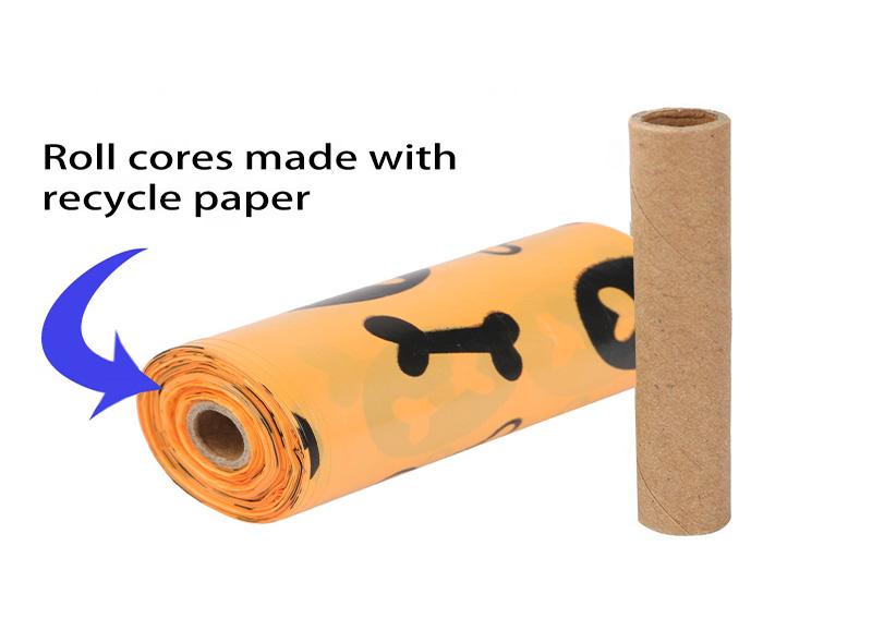 Orange Printed Dog Poop Bag