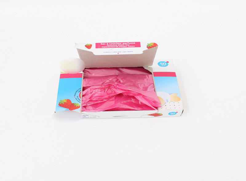 Pink Disposable Nappy Bags