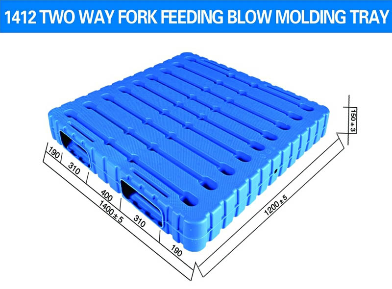 1400*1200*150mm Double Side Two-way Blow Molding Tray