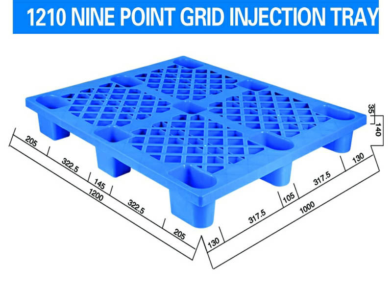 1200*1000*140mm Nine-angle Grid Injection Molding Tray