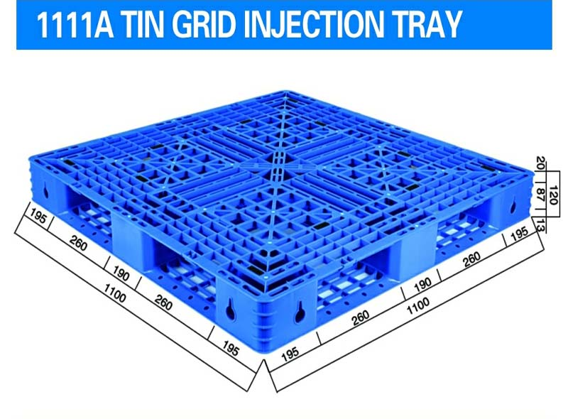 1100*1100*120mm Single Side Grid Injection Molding Tray