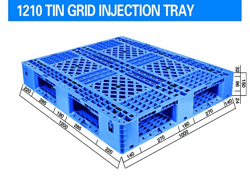 1200*1000*150mm Single Side Grid Injection Molding Tray