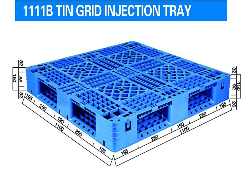 1100*1100*150mm Double Side Grid Injection Molding Tray